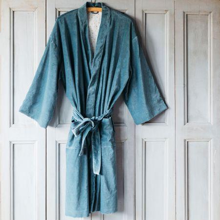 SMOKE-BLUE-VELVET-KIMONO-DRESSING-GOWNS