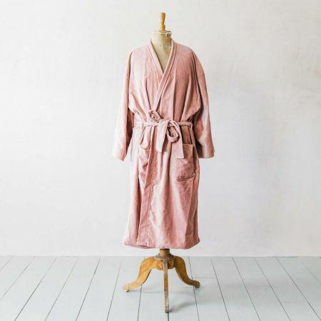 Rose Velvet Kimono Dressing Gown