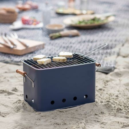 Ink Blue Rectangle BBQ Bucket