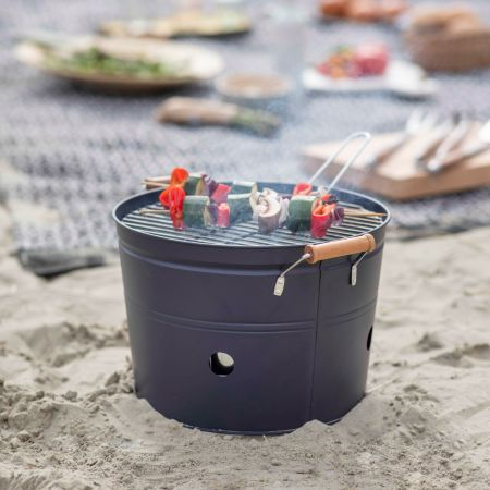 Carbon Grey Round BBQ Bucket