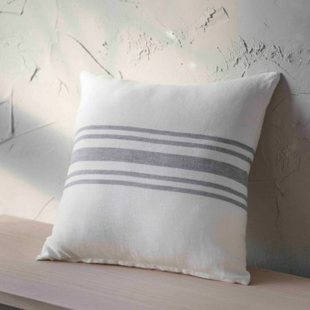 Small Striped Linen Cushion