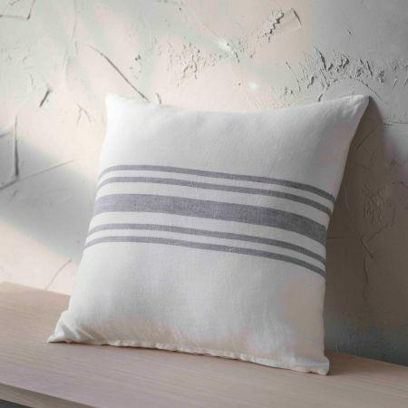 Small Striped Linen Cushion