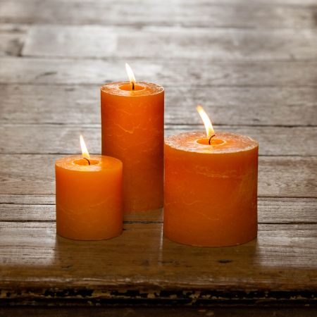 Ochre Pillar Candles