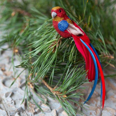 Red Glitter Parrot Clip