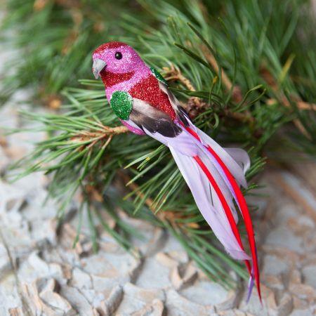 Pink Glitter Parrot Clip