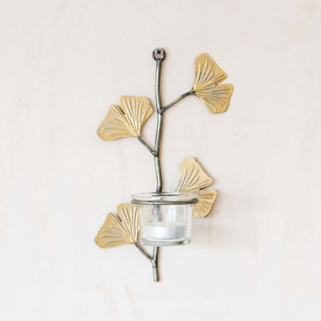 Gingko Leaf Wall Votive