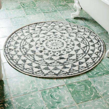 Round Geometric Bath Mats - Thumbnail