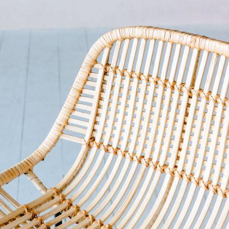 Ola Graphic Weave Rattan Barstool