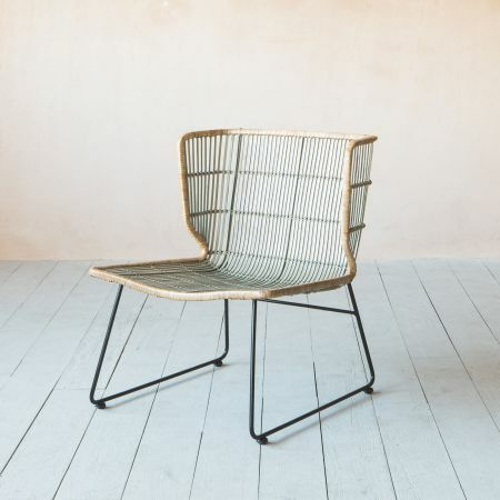 Wade Winged Rattan Lounge Chair
