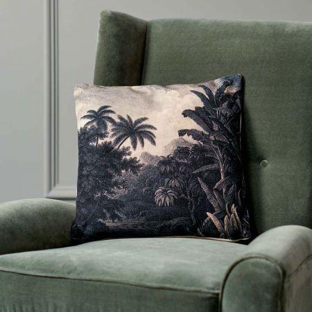 Black And White Jungle Cushion