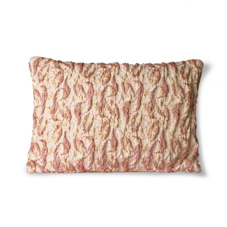Yellow Textured Jacquard Cushion