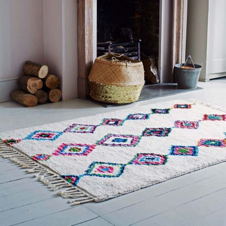 Colourful Hand-knotted Rug - Thumbnail