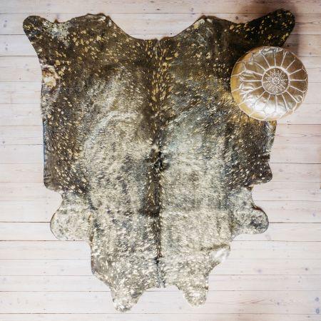Speckled Gold Cowhide Rug