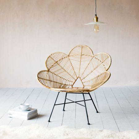 Natural Rattan Peacock Chair