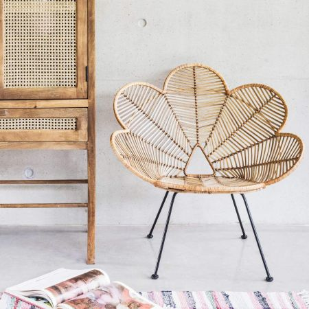 Natural Rattan Peacock Chair
