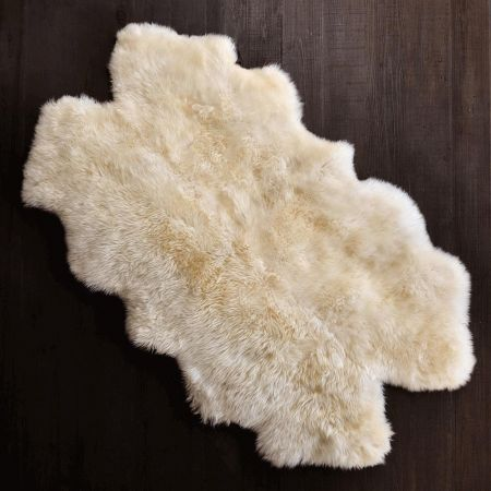 Extra Large Quad Ivory Sheepskin