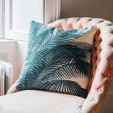 Printed Palm Leaves Cushion