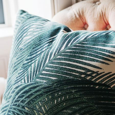 Printed Palm Leaves Cushion