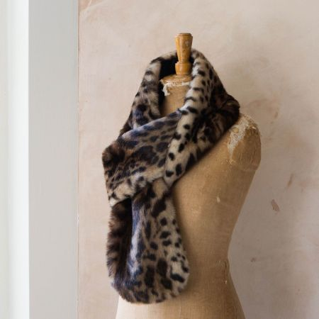 Leopard Faux Fur Loop Scarf