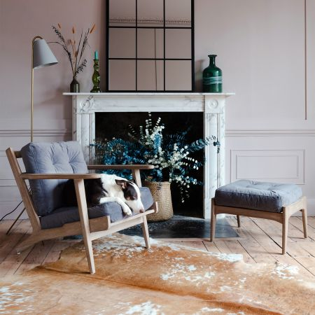 Dylan Grey Velvet Armchair