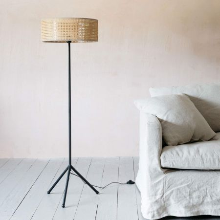 Camille Natural Floor Lamp