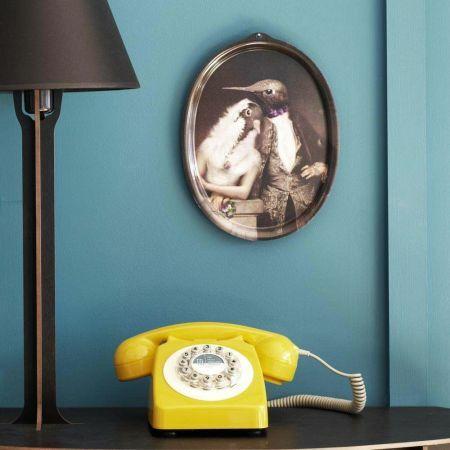 Lovebirds Portrait Oval Tray