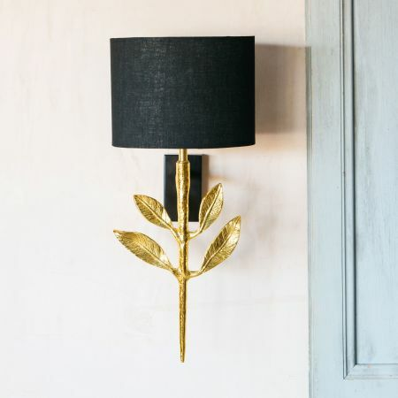 Genere Gold Wall Light with Shade