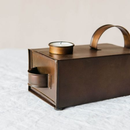 Iron Box Tea Light Holder