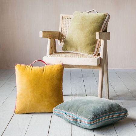 Velvet Cushions with Holders