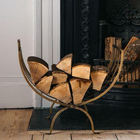 Brass Linear Log Basket