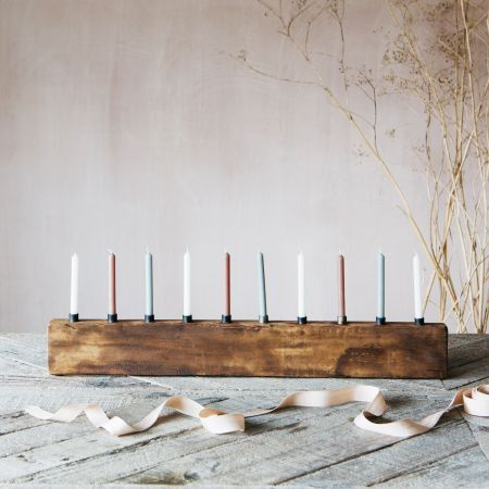 Large Wooden Candle Holder