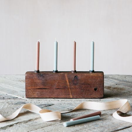 Small Wooden Candle Holder