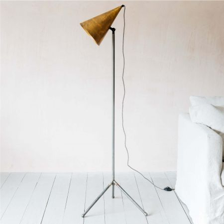 Jax Blue Gold Floor Lamp