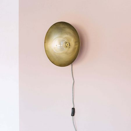 Silas Antiqued Brass Wall Light