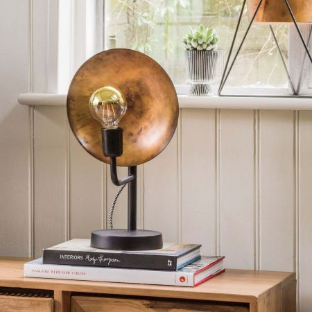 Silas Blue Gold Table Lamp