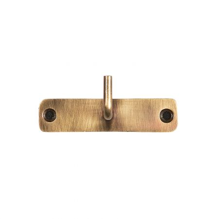 Antiqued Brass Single Hook