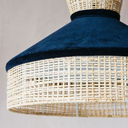 Savannah Dark Blue Plain Weave Pendant