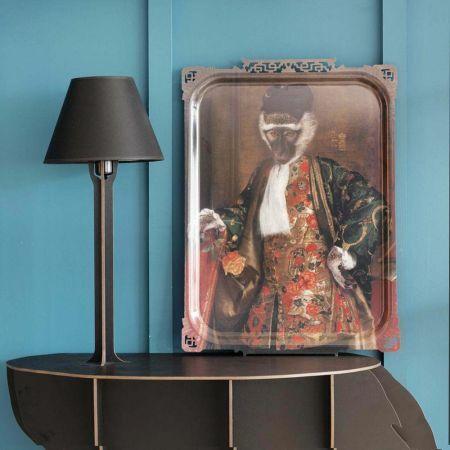 Cornelius Monkey Portrait Rectangular Tray