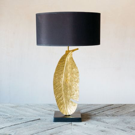 Large Gold Quill Table Lamp