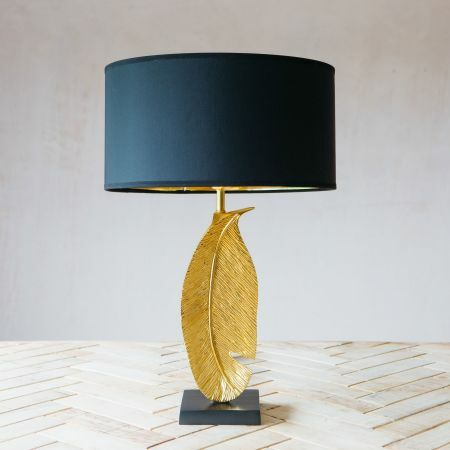 Small Gold Quill Table Lamp