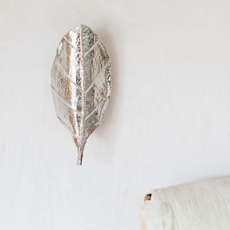 Obtrulate Silver Leaf Wall Light