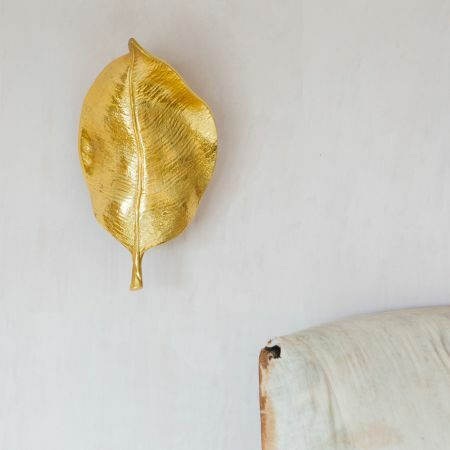 Ovate Gold Leaf Wall Light