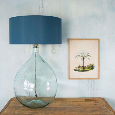 Round Glass Extra Large Clear Lamp