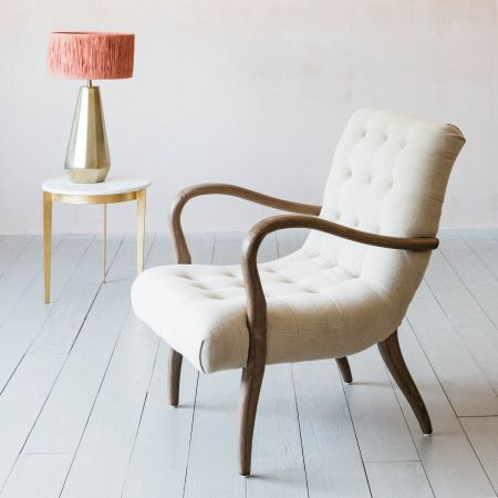 York Natural Linen Armchair