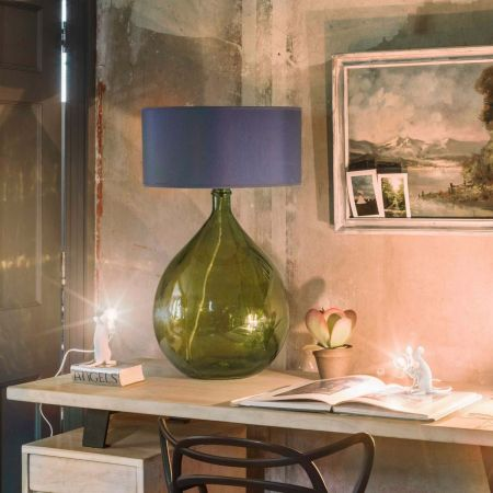 Extra Large Green Glass Lamp