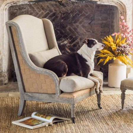 Duke Natural Linen Armchair