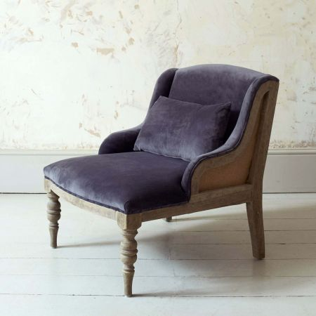 Duchess Grey Velvet Armchair