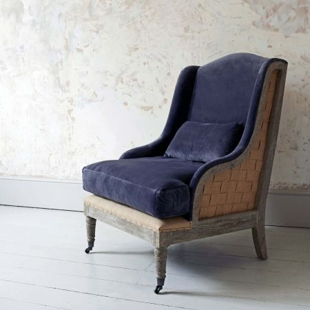 Duke Grey Velvet Armchair