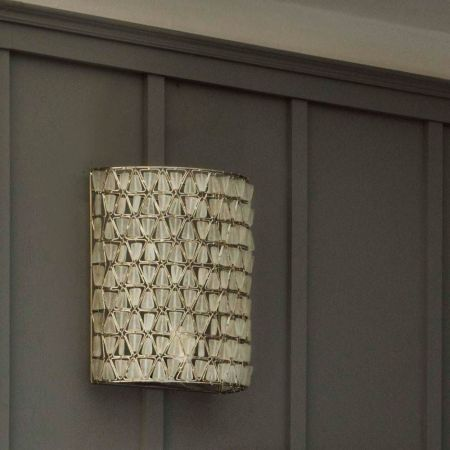 Eliza Beaded White Wall Sconce