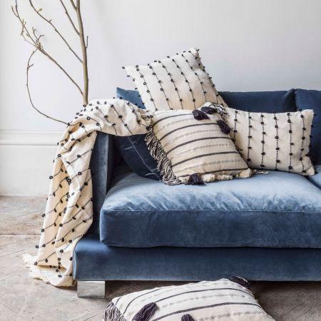 Metallic Striped Rectangular Cushion